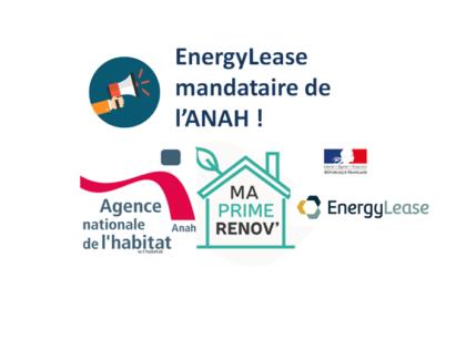 EnergyLease mandataire de l'Anah